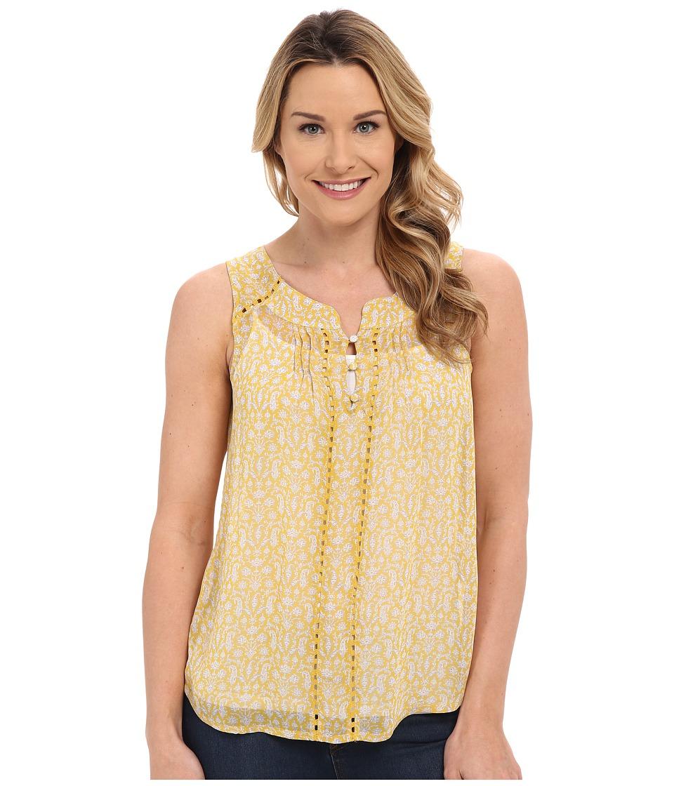 Lucky Brand - Paisley Tank Top (Yellow Multi) Women's Sleeveless