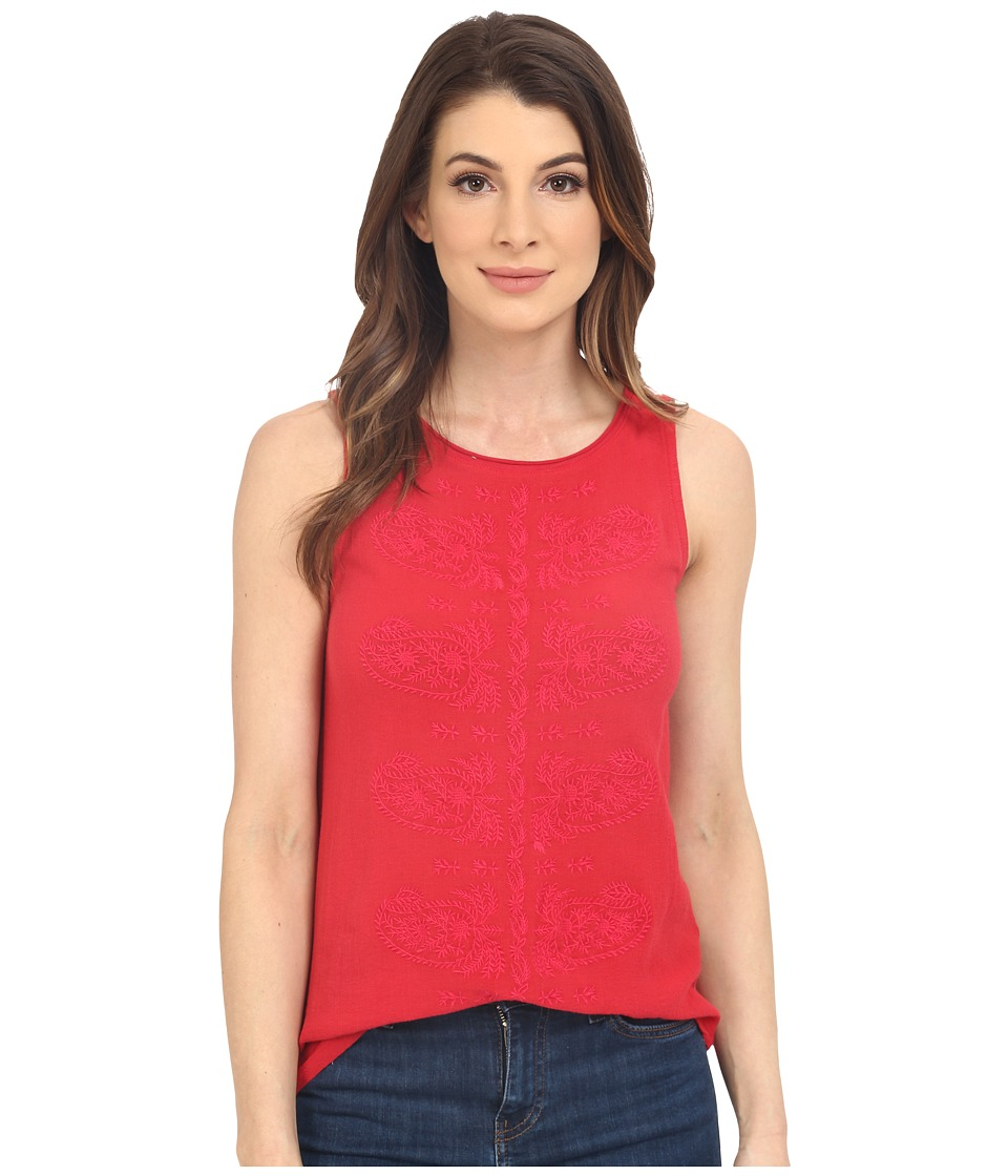 Lucky Brand - Paisely Embroidered Tank Top (Pink Multi) Women's Sleeveless