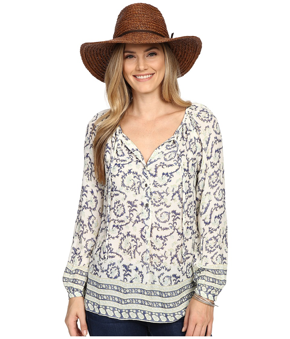 Lucky Brand - Paisley Border Top (Multi) Women's Clothing