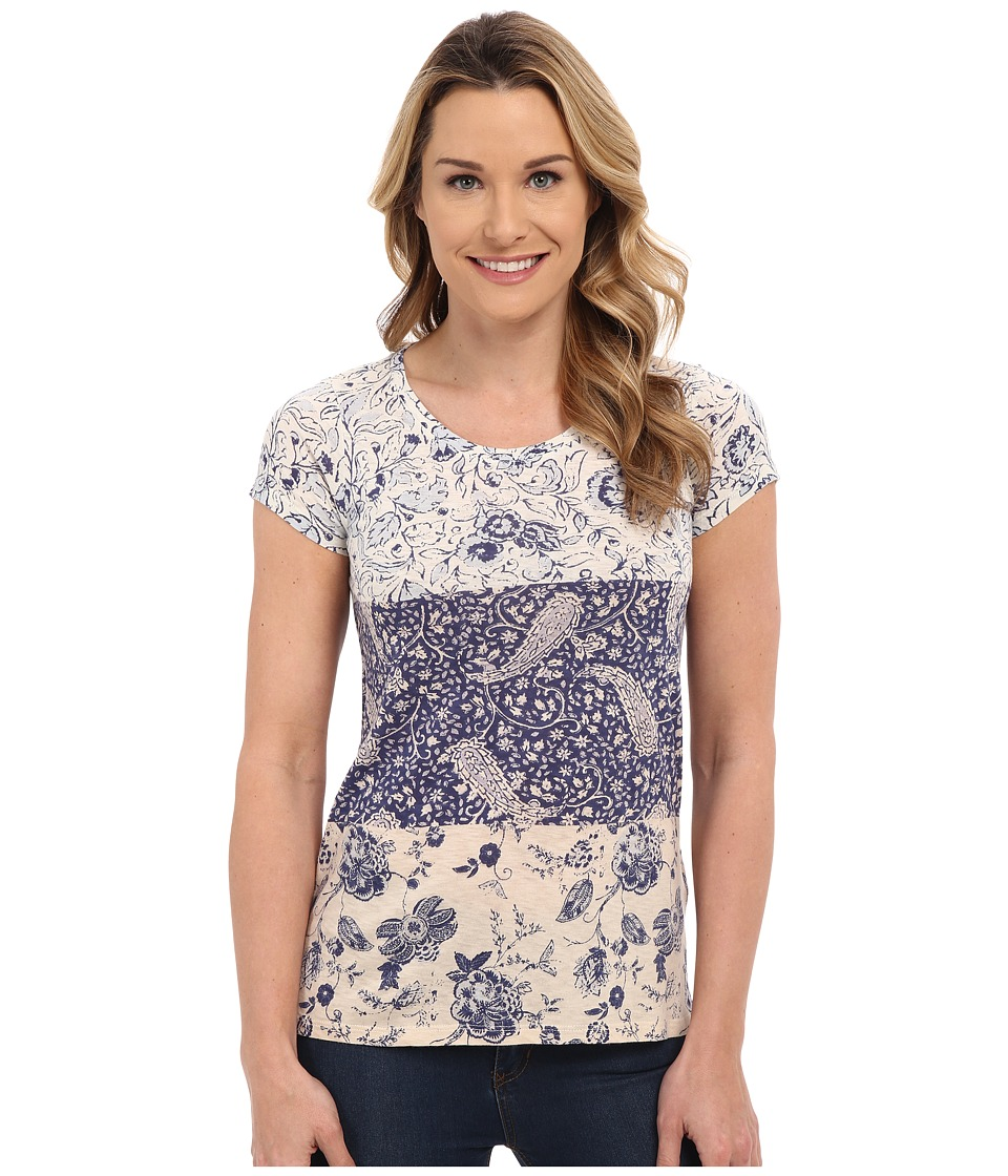 Lucky Brand Mixed Print Tee (Micro Chip) Women