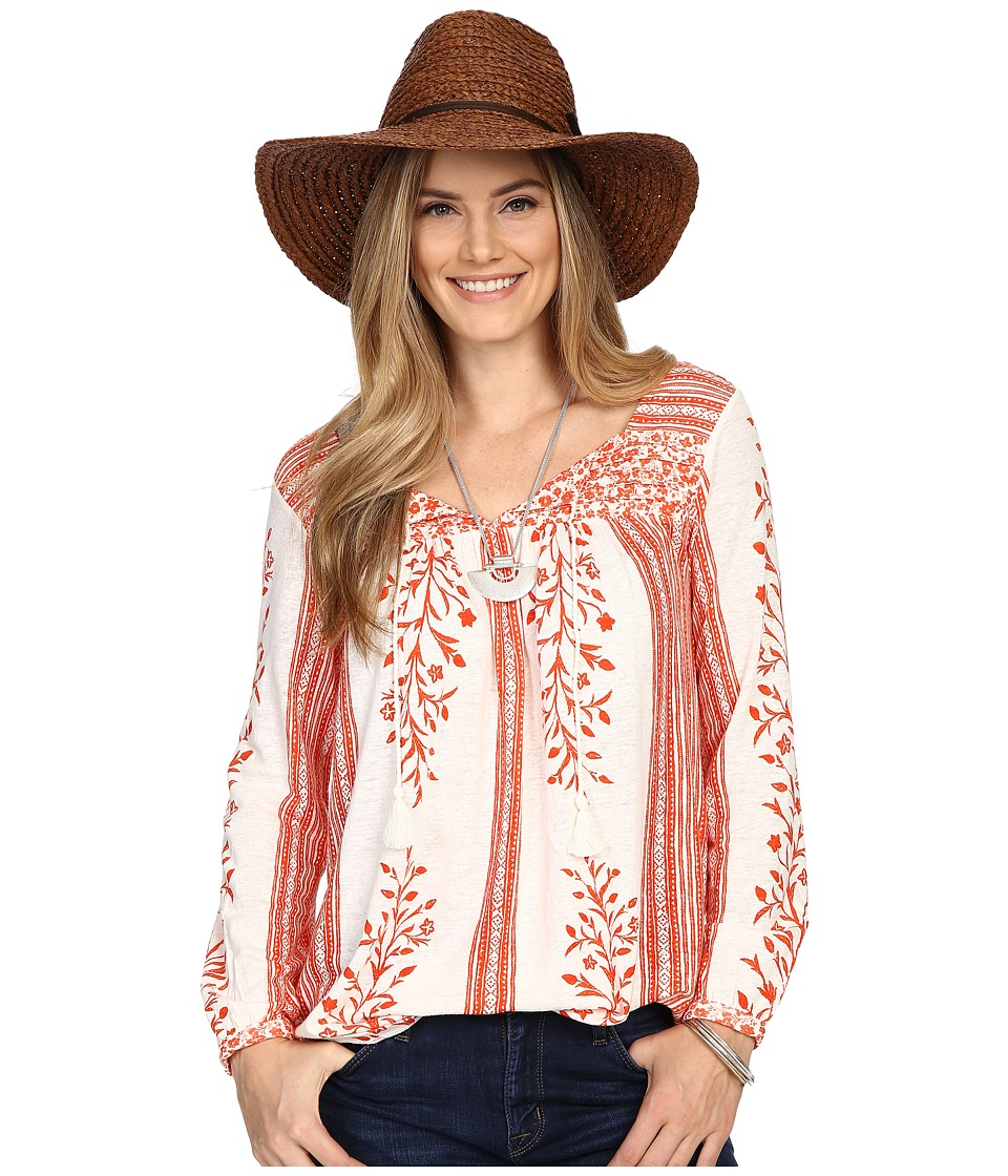 Lucky Brand - Mixed Print Top (Red Multi) Women's Clothing