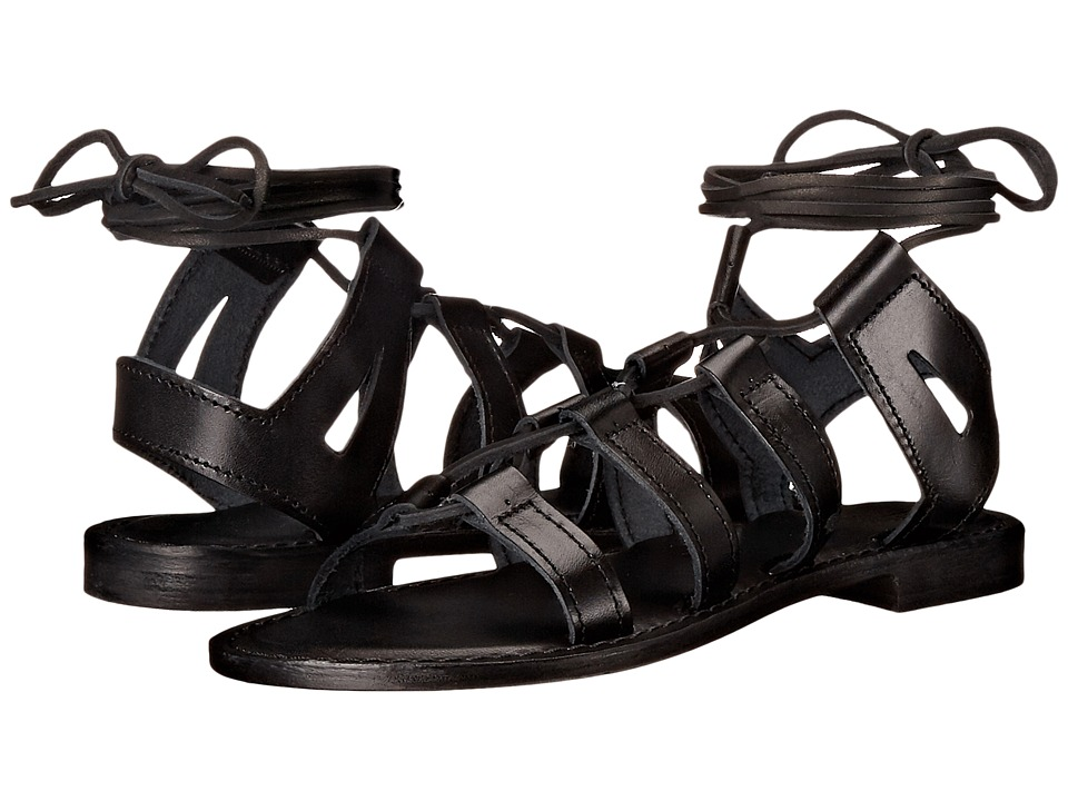 Summit by White Mountain - Felisha (Black Leather) Women's Sandals