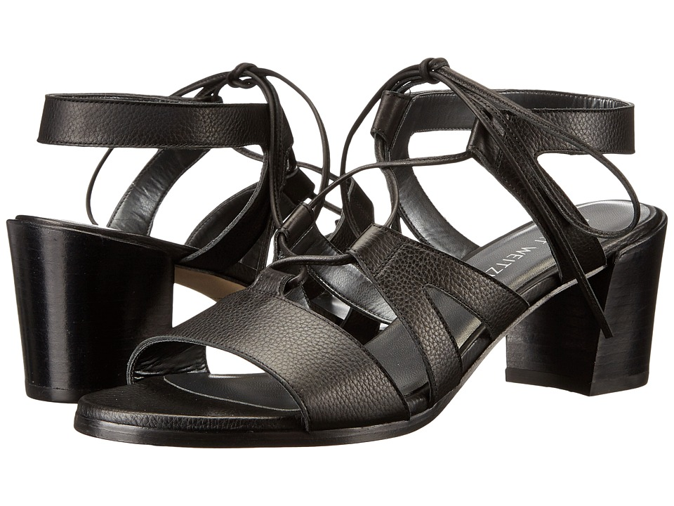 Stuart Weitzman - Tiegirl with Chorus Heel (Black Comfy Calf) Women's Shoes