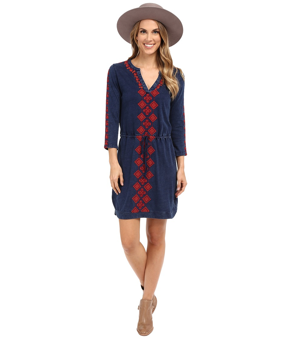 Lucky Brand - Embroidered Dress (Indigo) Women's Dress