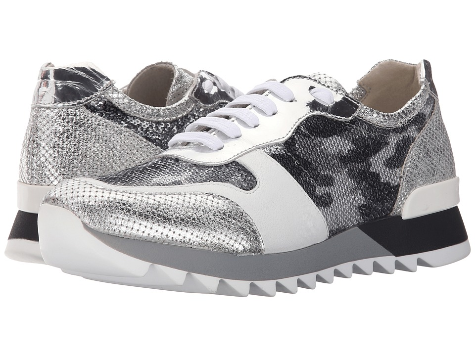 Summit by White Mountain - Bessie (Silver Multi Metallic Exotic) Women's Lace up casual Shoes