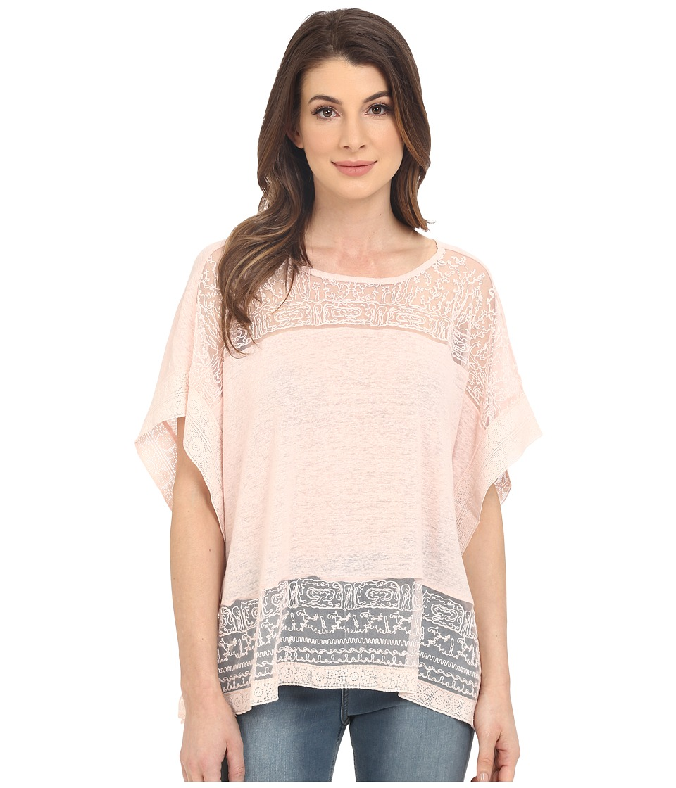 Lucky Brand - Scarf Embroidered Top (Pale Dogwood) Women's Blouse