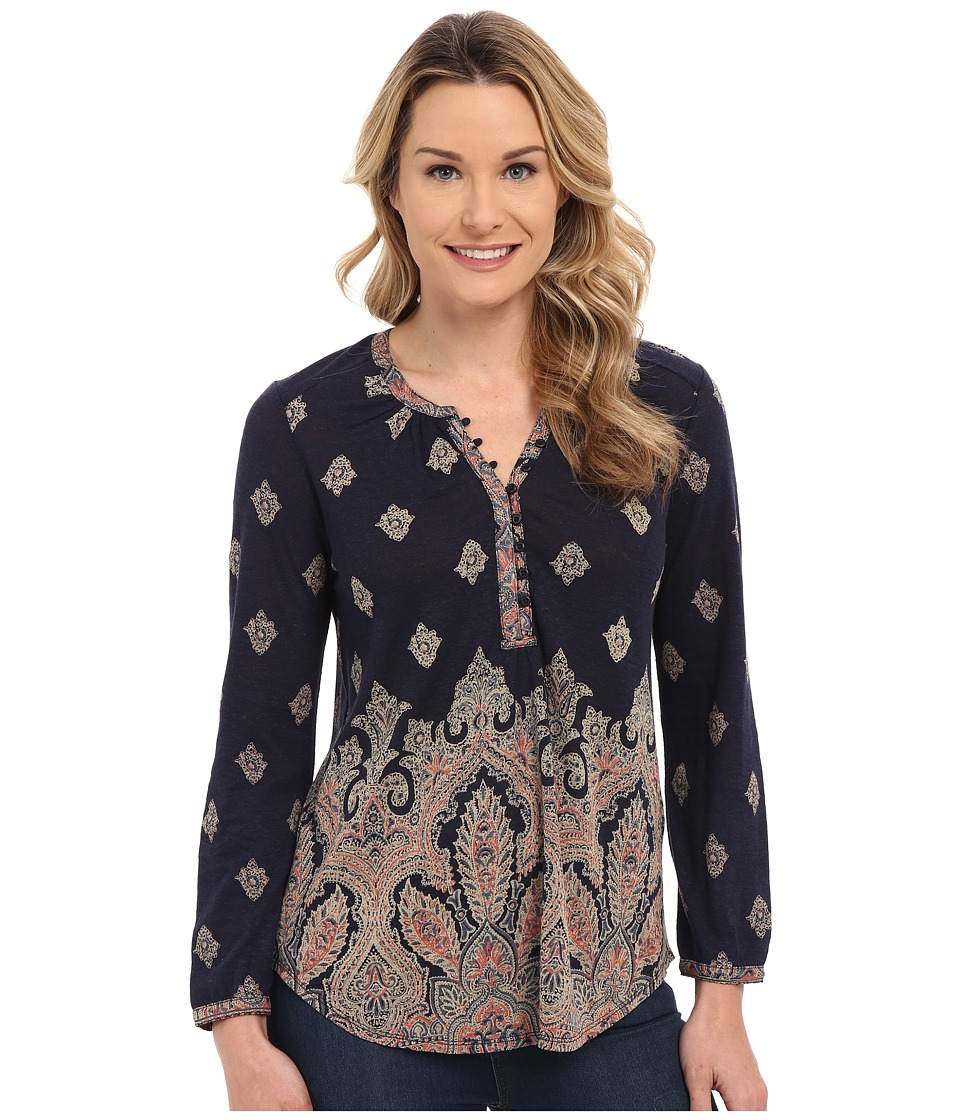 Lucky Brand - Placed Print Top (Multi) Women's Clothing