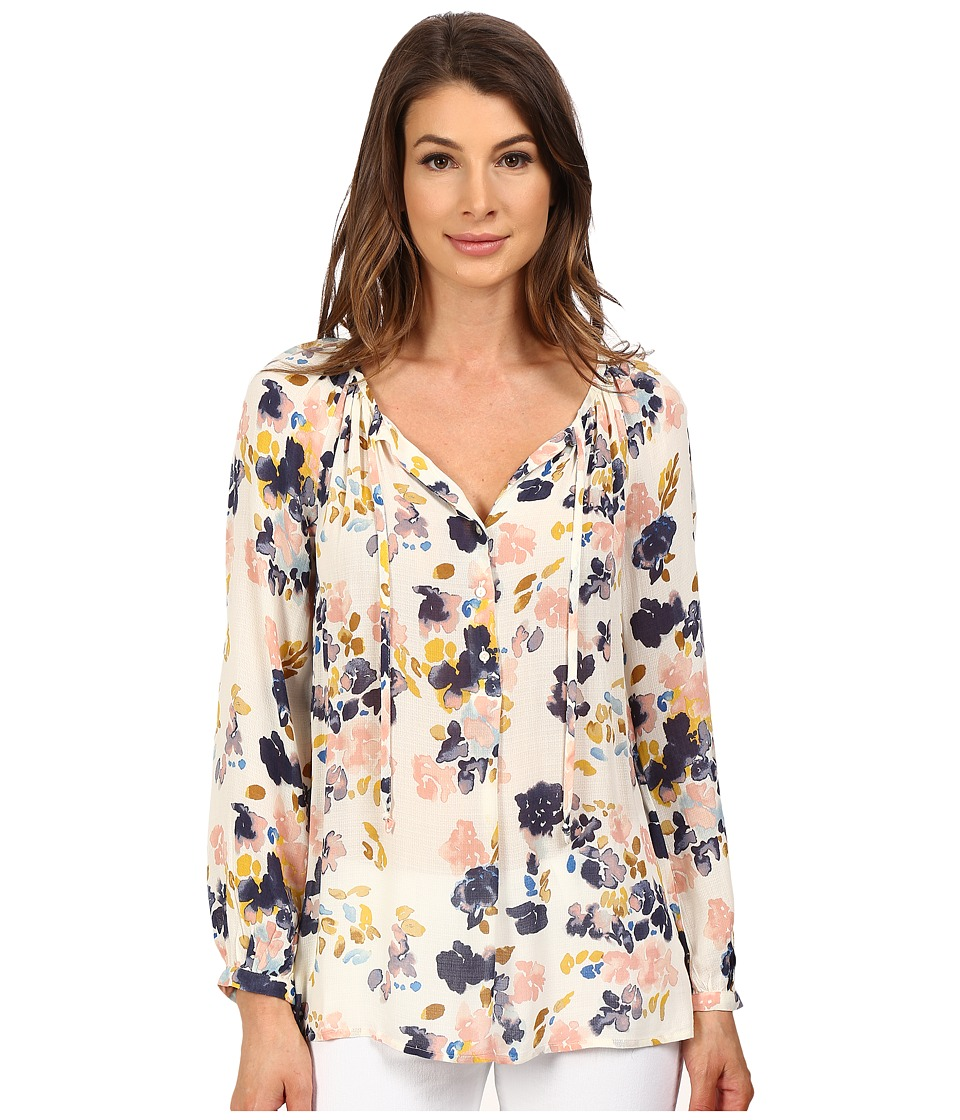 Lucky Brand - Soft Floral Top (Natural Multi) Women's Blouse