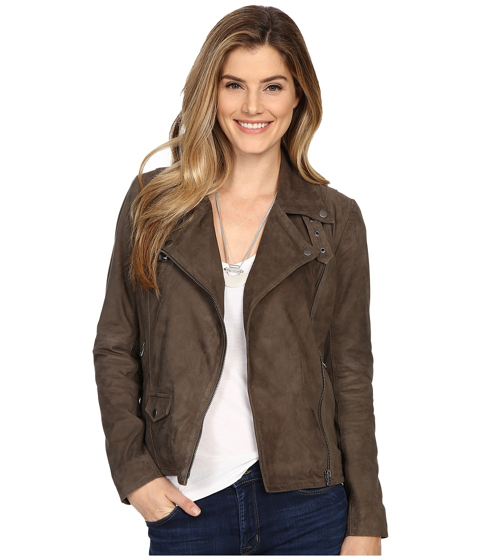 Lucky Brand - Grey Suede Jacket (Deep Taupe) Women's Coat