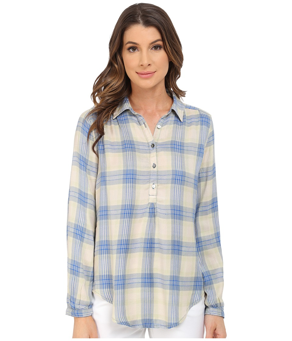Lucky Brand - Plaid Shirt (Turquois) Women's Long Sleeve Button Up
