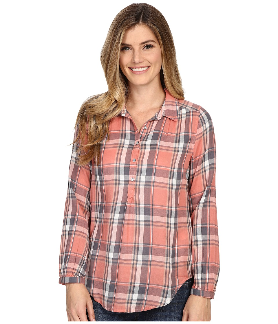 Lucky Brand - Plaid Shirt (Coral Multi) Women's Clothing