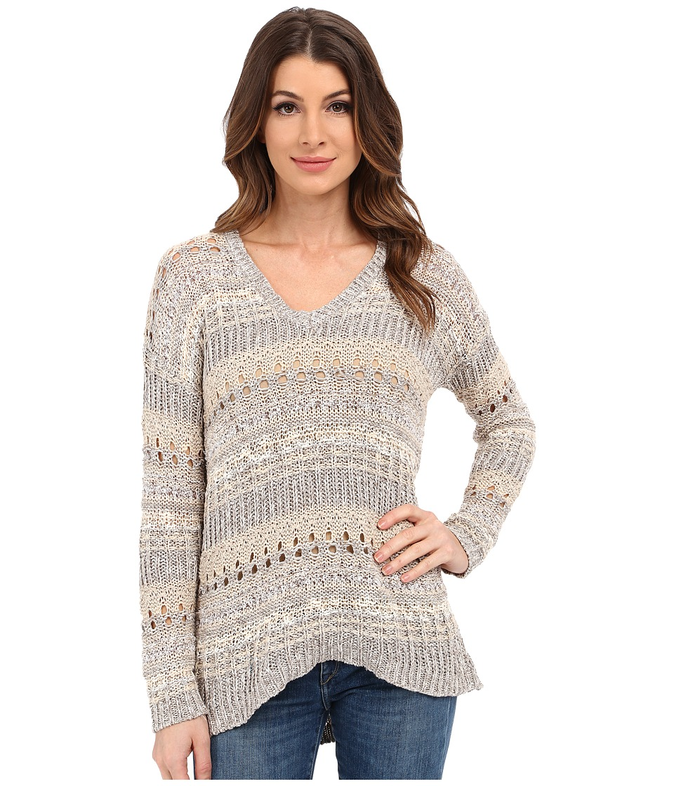 Lucky Brand - Mixed Stitch Tunic (Natural Multi) Women's Sweater