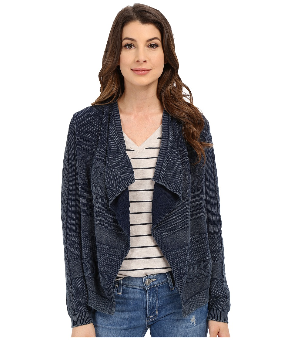 Lucky Brand - Cable Cardigan (Indigo) Women's Sweater