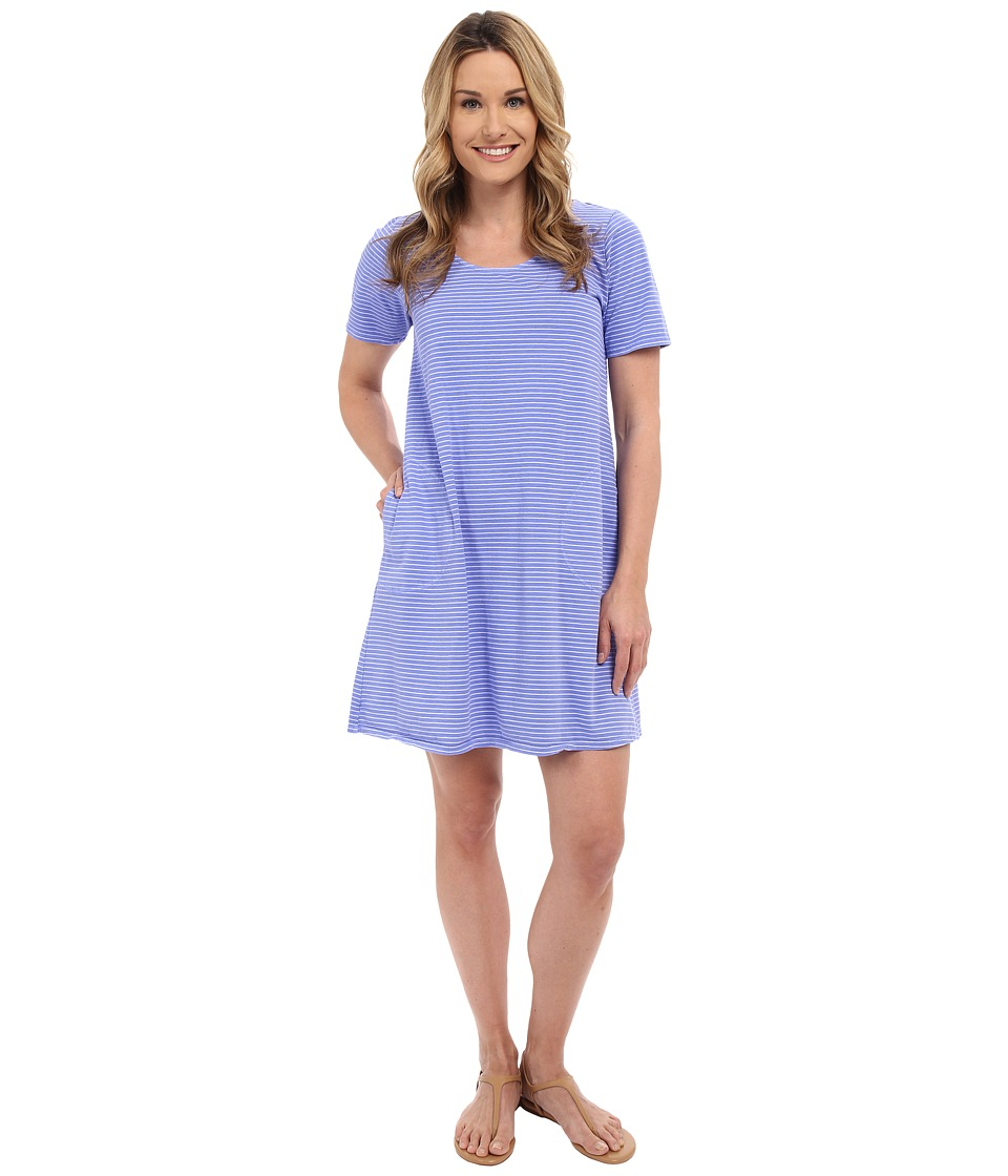 Fresh Produce - Pinstripe Allure T-Shirt Dress (Peri Blue) Women's Dress