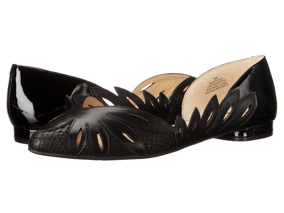 Nine West - Orlagh (Black/Black/Black Leather) Women's Shoes