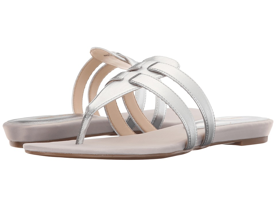 Nine West Outside3 Silver Synthetic Sandals