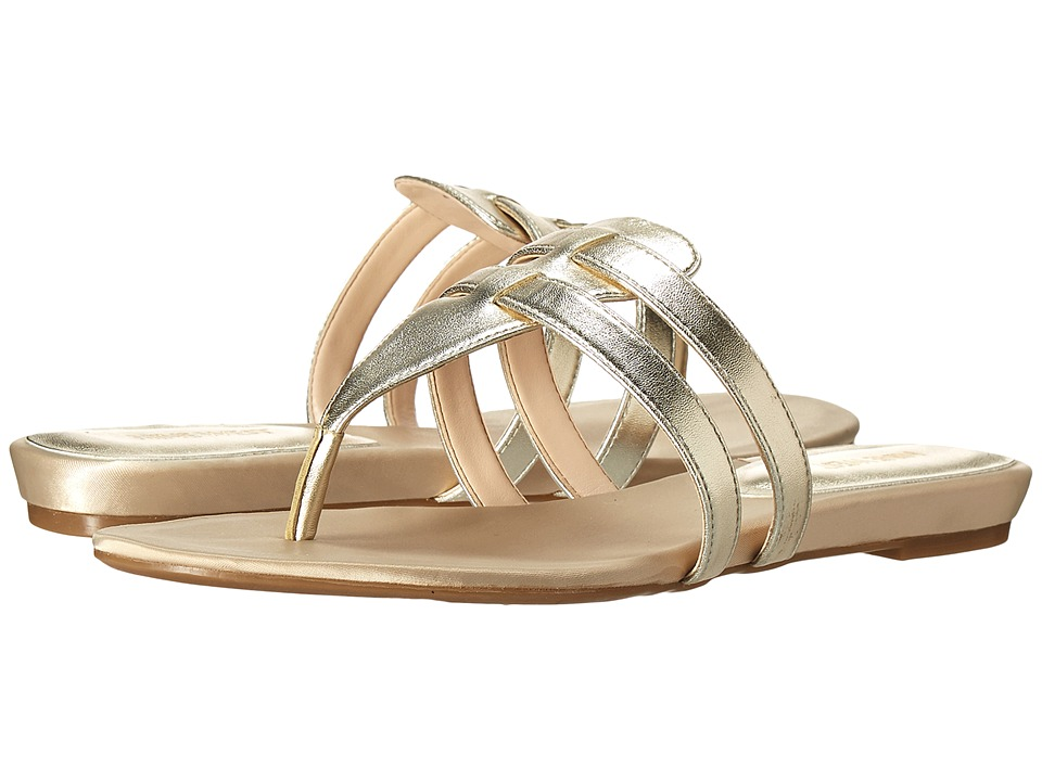 Nine West - Outside3 (Light Gold Synthetic) Women's Sandals