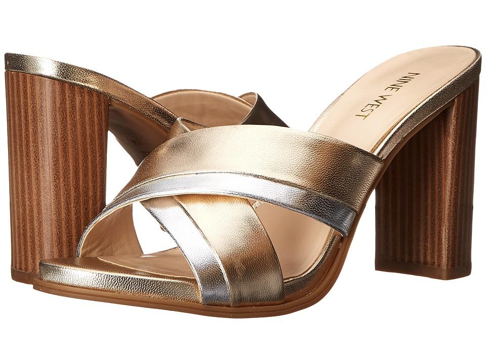 Nine West - Philomyna (Light Gold/Silver Metallic) High Heels