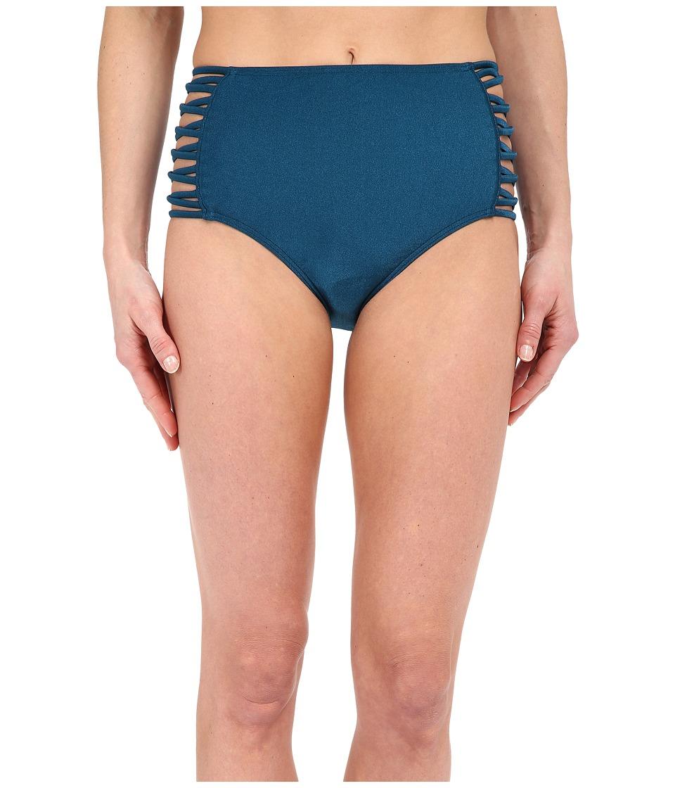 O'Neill - Lux Solids High Waist Pant Bottoms (Metallic Sapphire) Women's Swimwear
