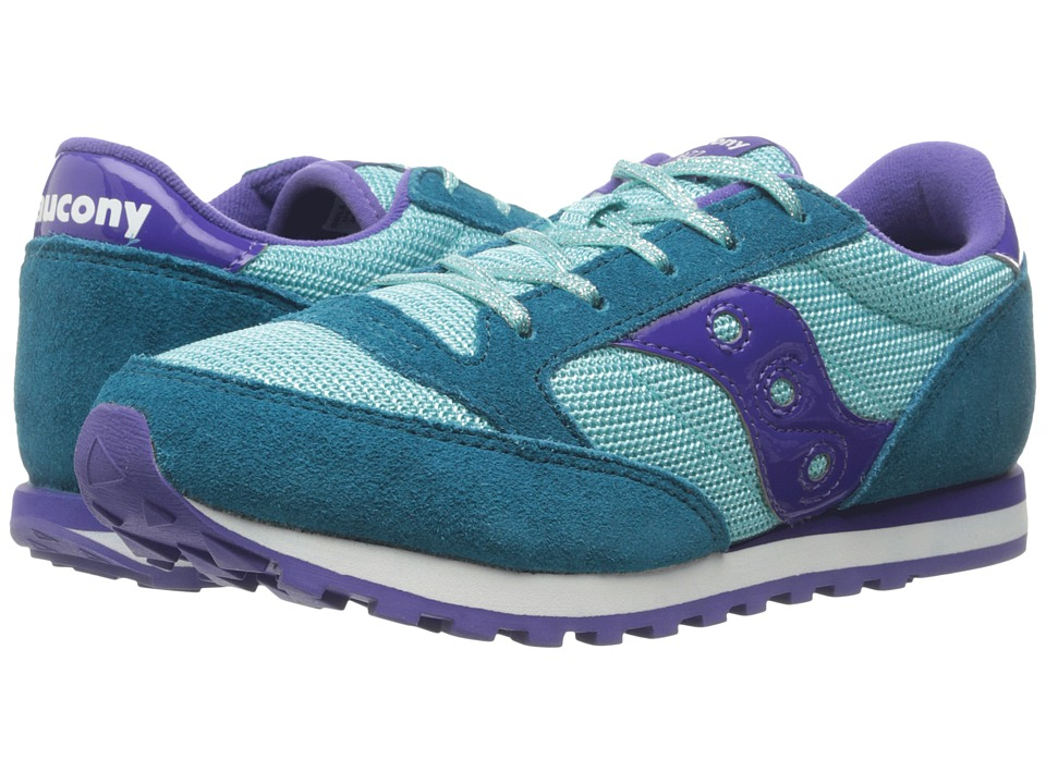 Saucony Kids Jazz Original (Little Kid) (Turquoise/Purple) Girls Shoes