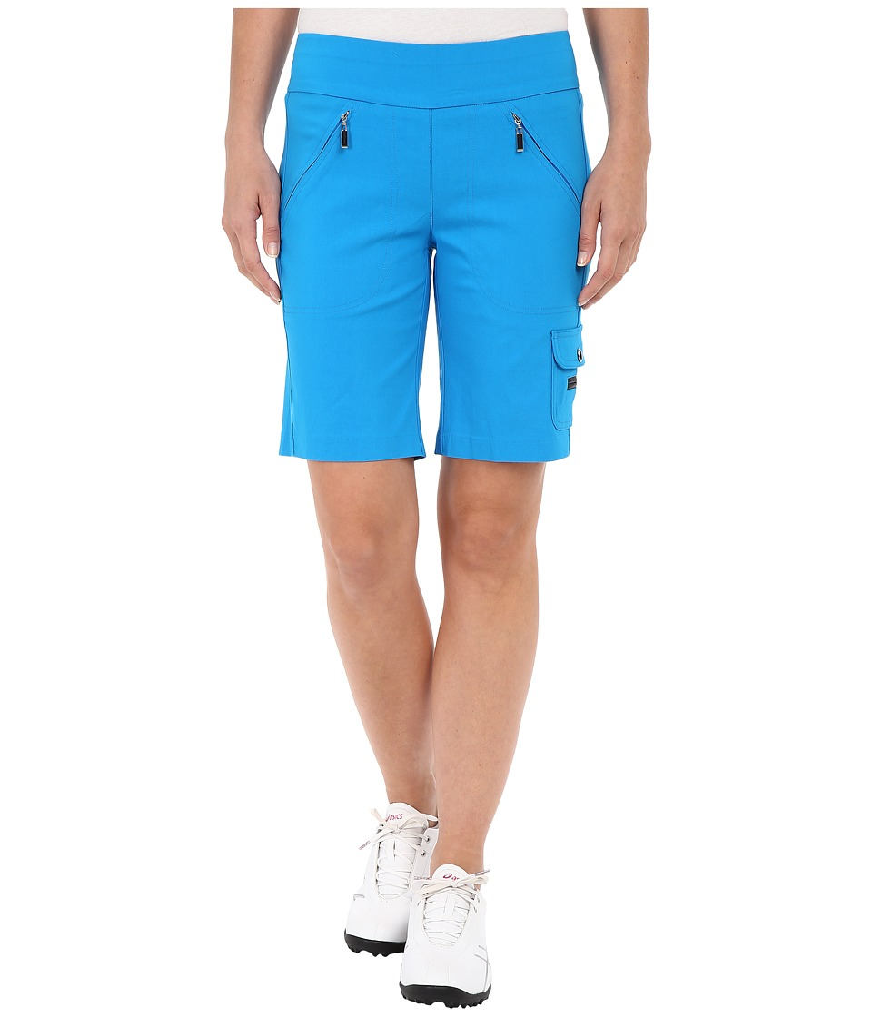 Jamie Sadock - Skinnylicious Mesh Control Top Panel 19 in. Short (Blue Bayou) Women's Shorts