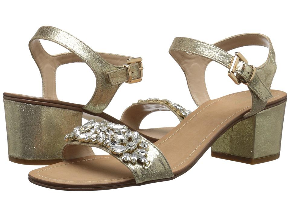 Dune London - Mahala (Gold Leather) Women's 1-2 inch heel Shoes