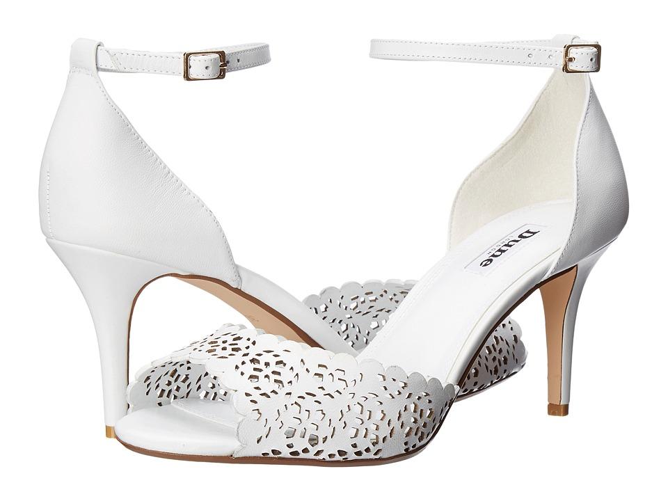 Dune London - Mylene (White Leather) Women's Shoes