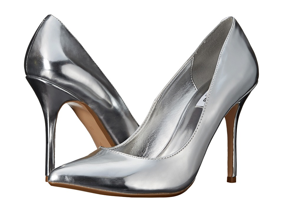 Dune London - Burst (Silver Leather) High Heels