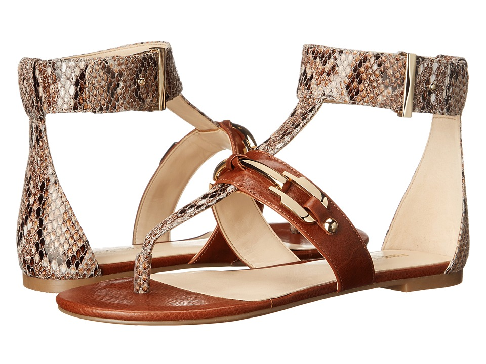 Nine West - Sheenagh (Natural Multi/Cognac Reptile) Women's Shoes