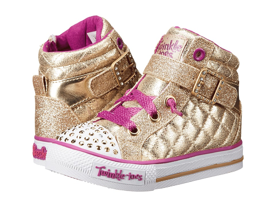 SKECHERS KIDS - Twinkle Toes - Shuffles Sweetheart Sole (Infant/Toddler/Little Kid) (Gold) Girls Shoes