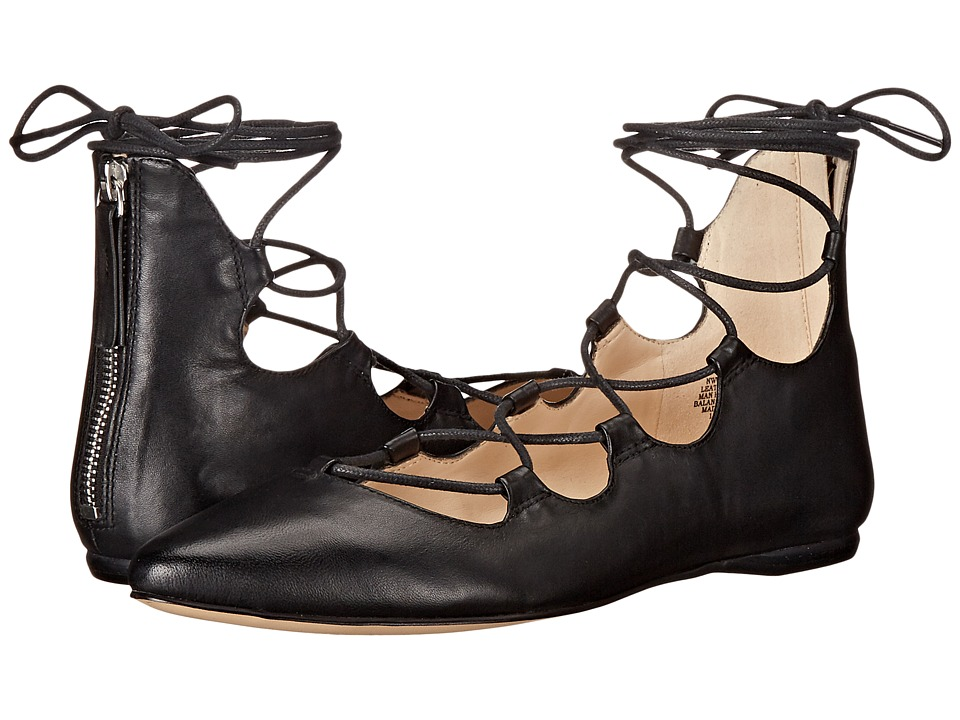 Nine West Signmeup (Black Leather) Women