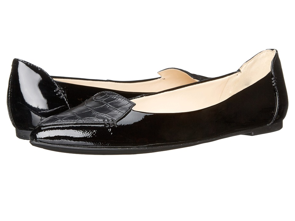 Nine West - Snooze (Black/Black/Black Leather) Women's Flat Shoes