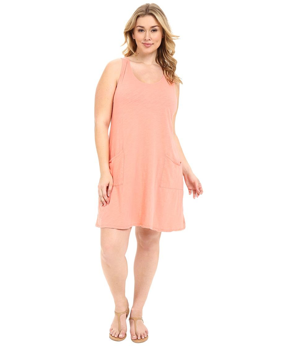 Extra Fresh by Fresh Produce - Plus Size Drape Dress (Melon Sherbet) Women's Dress