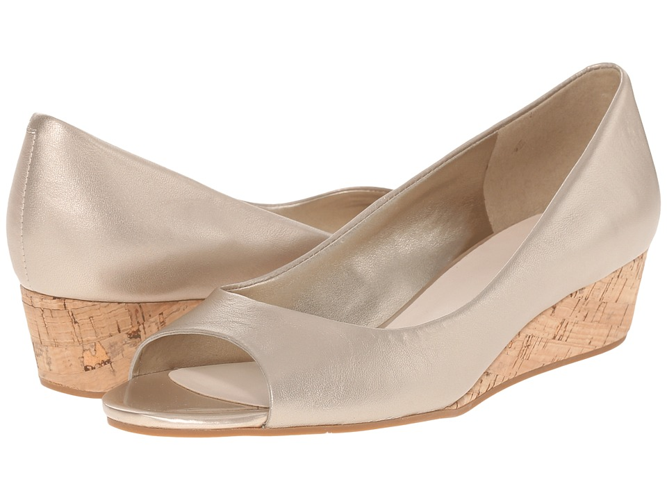 Cole Haan - Elsie Open Toe Wedge II (Soft Gold Metallic) Women