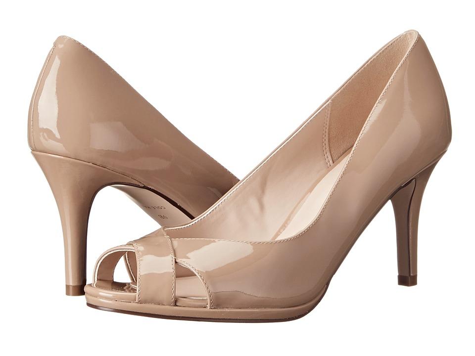 Cole Haan - Lena Open Toe Pump 75 II (Maple Sugar Patent) Women's Shoes