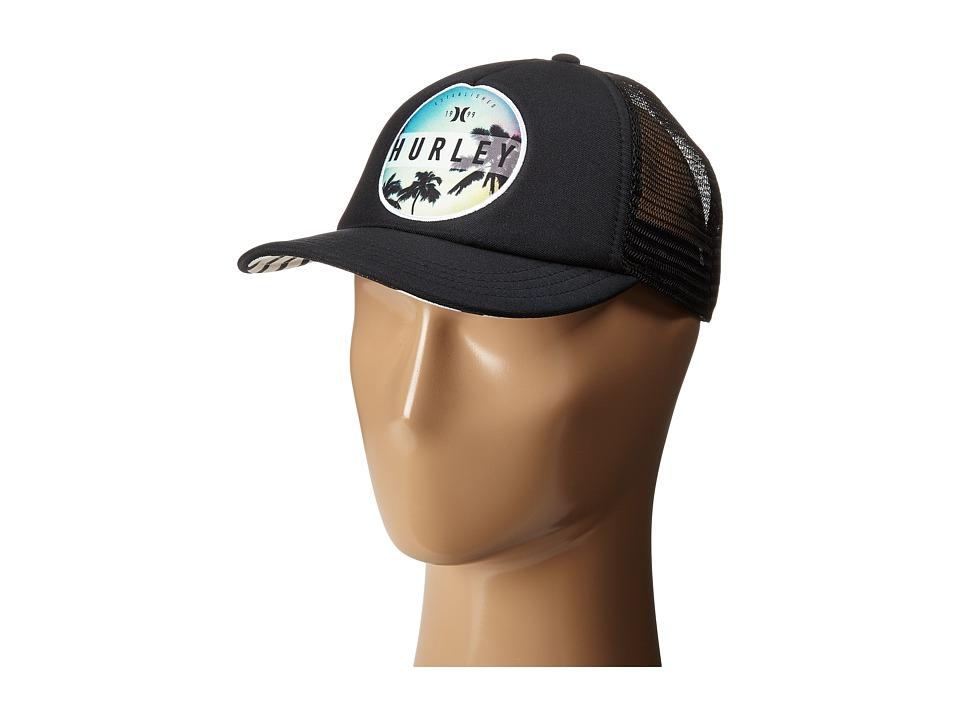 Hurley - Printed Trucker Hat (Black G) Caps