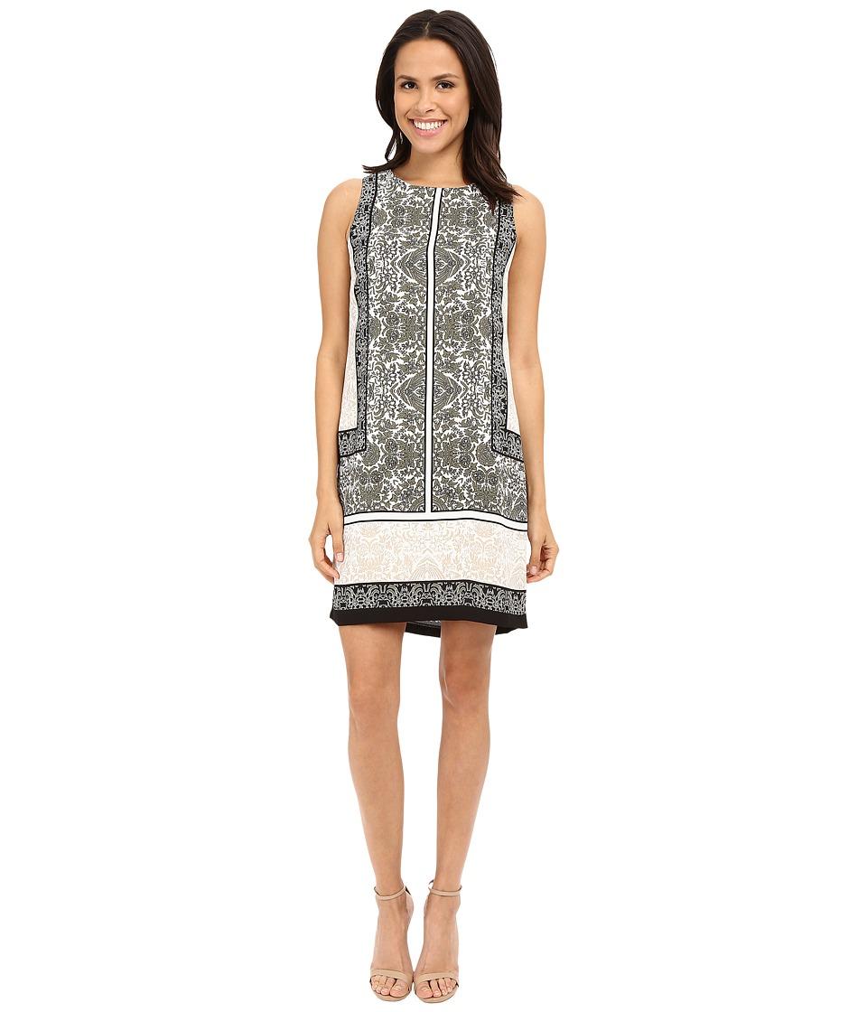Vince Camuto - Sleeveless Delicate Maze Panel Shift Dress (Sage) Women's Dress