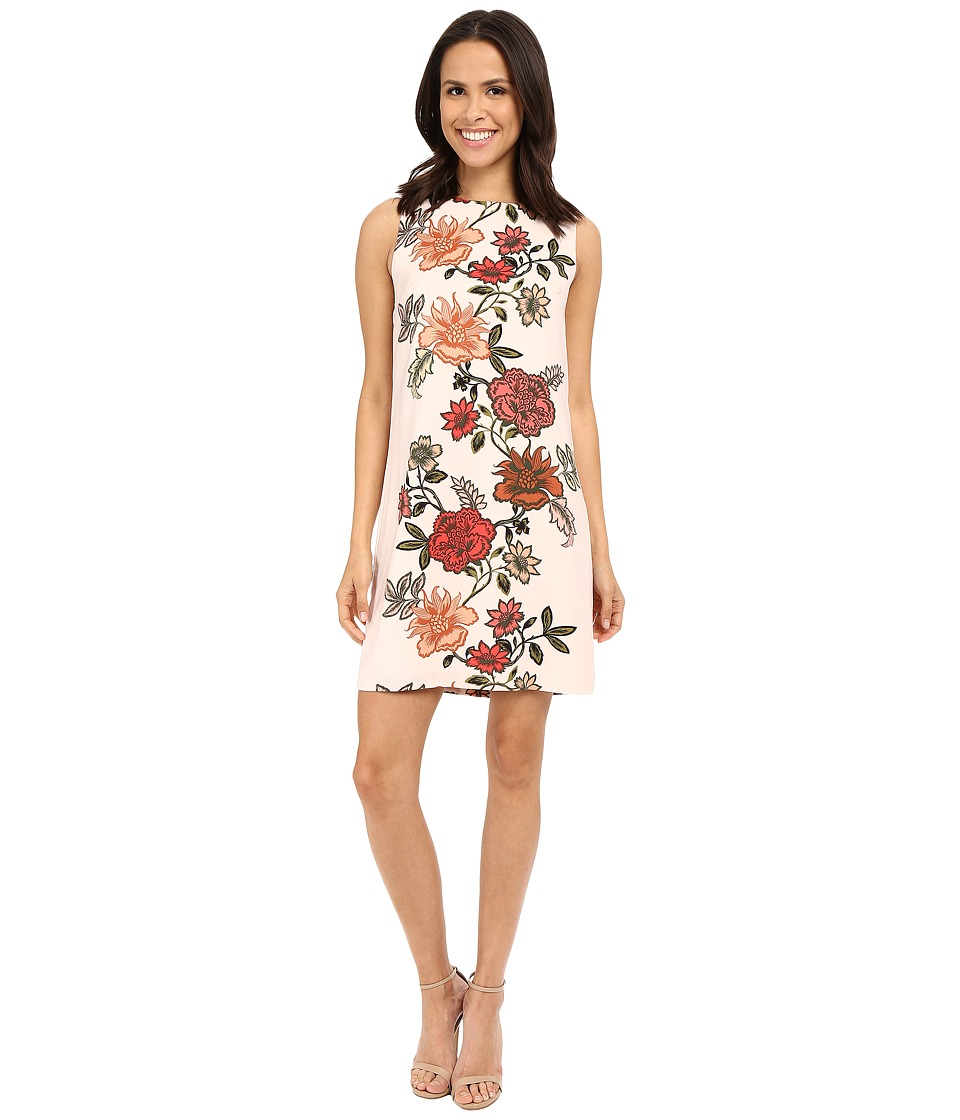 Vince Camuto - Sleeveless Floral Portrait Shift Dress (Blush Balm) Women's Dress