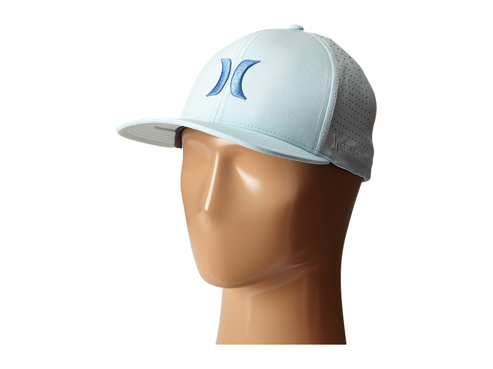Hurley - Phantom Vapor 2.0 Fitted Hat (Ice Blue) Caps