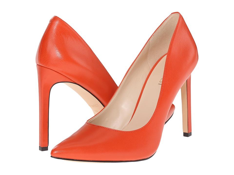 Nine West - Tatiana (Red Orange Leather) High Heels