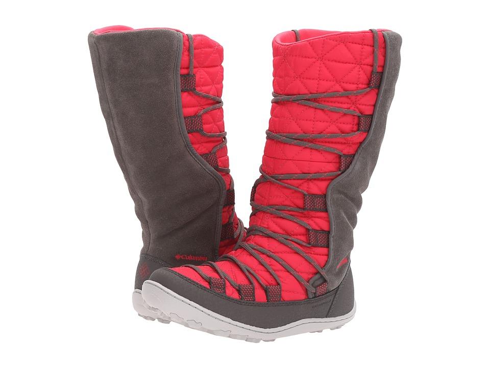 Columbia Kids - Loveland Omni-Heat (Little Kid/Big Kid) (Punch Pink/Quarry) Girls Shoes