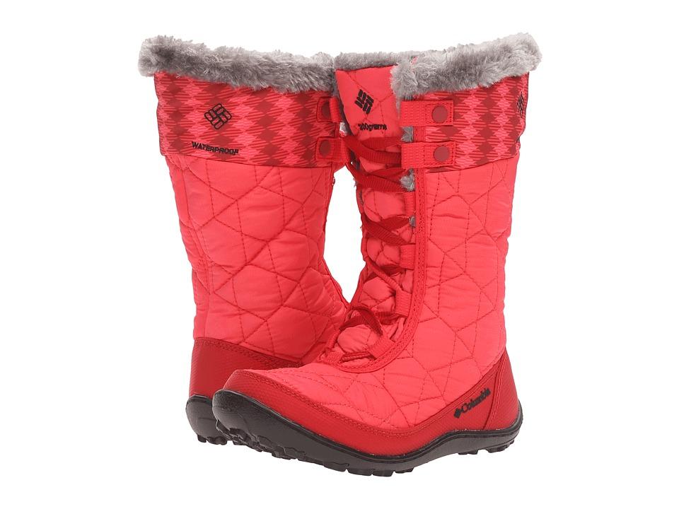 Columbia Kids Minx Mid II Waterproof Omni-Heat (Little Kid/Big Kid) (Red Camellia/Black) Girls Shoes