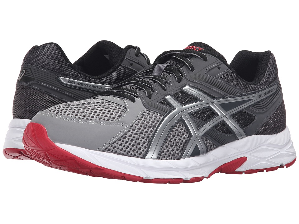 ASICS GEL-Contend 3 (Dark Grey/Silver/True Red) Men