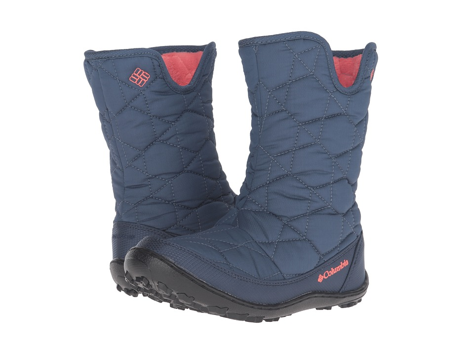 Columbia Kids Minxtm Slip Omni-Heattm Waterproof Boot (Little Kid/Big Kid) (Dark Mountain/Melonade) Girls Shoes