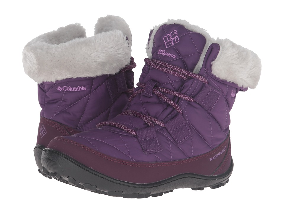 Columbia Kids - Minx Shorty Omni-Heat Waterproof (Little Kid/Big Kid) (Iris Glow/Northern Lights) Girls Shoes