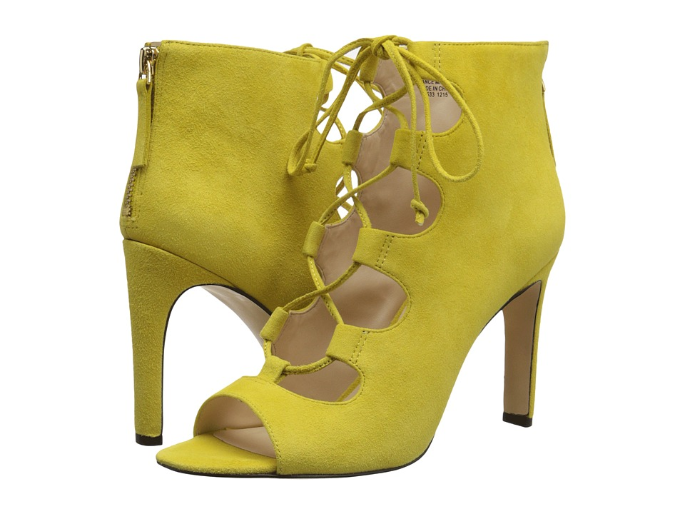 Nine West Unfrgetabl Yellow Suede High Heels