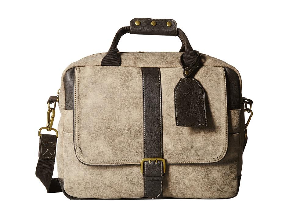 CARLOS by Carlos Santana - Briefcase (Stone) Briefcase Bags