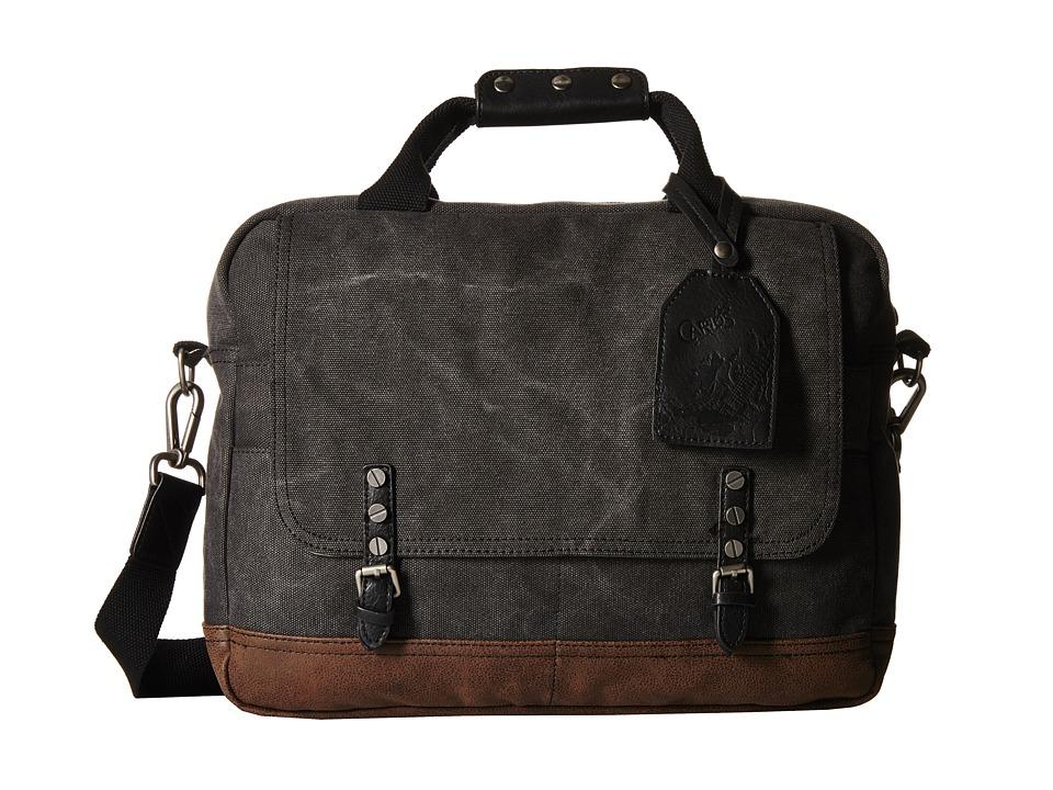 CARLOS by Carlos Santana - Briefcase (Charcoal) Briefcase Bags