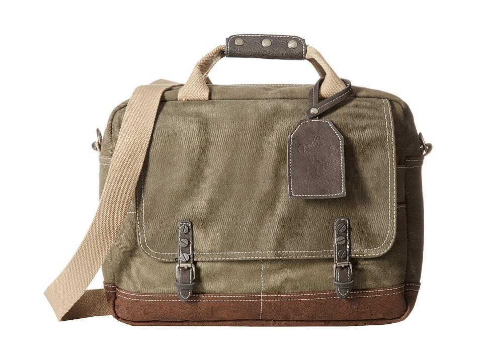 CARLOS by Carlos Santana - Briefcase (Olive) Briefcase Bags