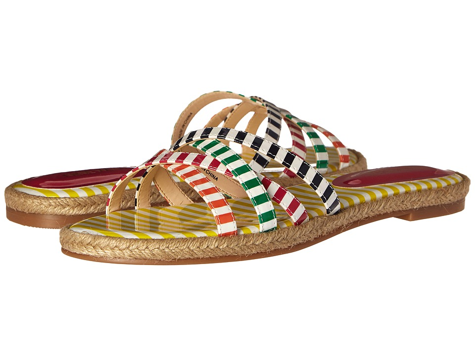 Nine West - Vern3 (White/Dark Pink Multi Synthetic) Women's Sandals